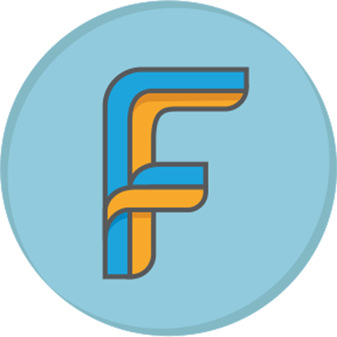 Freelance Financial Planning logo F badge